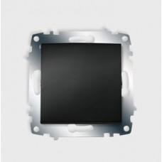 ABB Zena без рамки чёрный выключатель 1кл