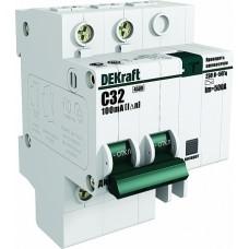 DEKraft ДИФ-101 Дифференциальный автоматический выключатель 1P+N 50А 30мА AC (С) со встроенной защитой от сверхтоков