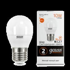 Gauss Elementary Лампа LED Globe, 10W, E27, 2700K