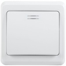 IEK ВС10-1-1-ВБ Выключатель 1кл 10А с инд. ВЕГА (белый)