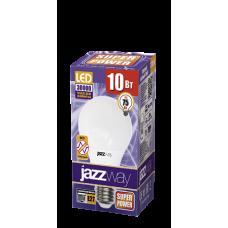 Jazzway Лампа светодиодная (LED) «груша» d60мм E27 180° 10Вт 220-240В матовая тепло-белая желтая 3000К