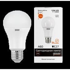 Gauss Лампа LED Elementary A60 12W E27 3000K 1/10/40