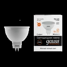 Gauss Лампа LED Elementary MR16 GU5.3 9W 3000K 1/10/100