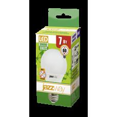 Jazzway Лампа светодиодная (LED) «груша» d60мм E27 240° 7Вт 220-230В матовая нейтральная холодно-белая 5000К