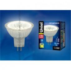 Uniel Лампа LED GU5.3 1,2W бел