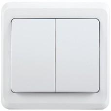 IEK ВС10-2-0-ВБ Выключатель 2 кл 10А ВЕГА (белый)