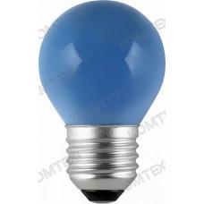 Comtech Лампа накаливания Е27 (шар)голубая 10W