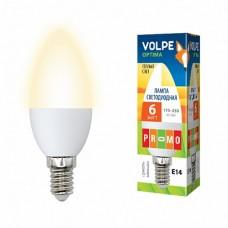 Volpe Лампа LED свеча Е14 6W 220V 3000К мат