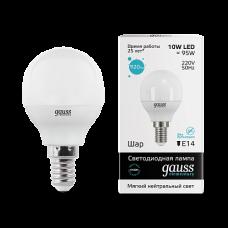 Gauss Лампа LED Elementary Globe 10W E14 4100K 1/10/100