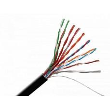 IEK ITK Кабель связи витая пара F/UTP, кат.5E 10х2х24AWG solid, LDPE, 305м, черный