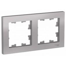 SE AtlasDesign Алюминий Рамка 2-ая, универсальная