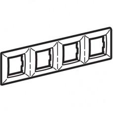 DKC Brava Белая Рамка 4-ая RAL9010 4х2 мод