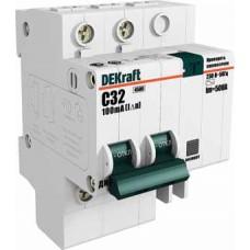 DEKraft ДИФ-101 Дифференциальный автоматический выключатель 2Р 25А 30мА тип AC (С) 4,5кА