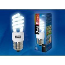 Uniel Лампа энергосберегающая спираль 11Вт, E27, ярко-белая