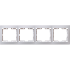 IEK РГ-4-КБ Рамка 4местн. горизонт. КВАРТА (белый)