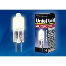 Uniel Лампа галогенная JC-220/20/G4 CL