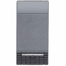 BT LV Антрацит Клавиша 1-ая для кнопок с линзой подсветки, 1 мод