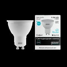 Gauss Лампа LED Elementary MR16 GU10 5.5W 4100К 1/10/100
