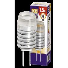 Jazzway Лампа светодиодная (LED) капсульная d12мм GU4 120° 1.5Вт 12В прозрачная тепло-белая желтая 3000К
