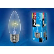 Uniel Лампа накаливания свеча прозр. IL-C35-CL-40/E27 картон
