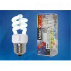 Uniel Лампа энергосберегающая спираль 9Вт, E27, ярко-белая