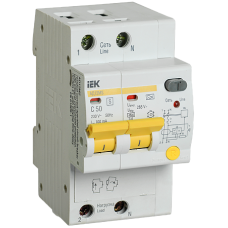 IEK Дифференциальный автоматический выключатель АД12MS 2Р 50А 100мА