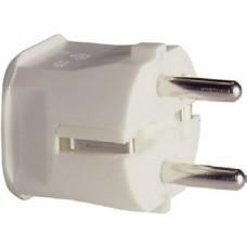 ABL Вилка термопласт 16A, 2P+E, 250V, подключение сзади (белый)