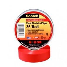 3M Scotch 35 Изоляционная лента высшего класса, 19мм х 20м, красная