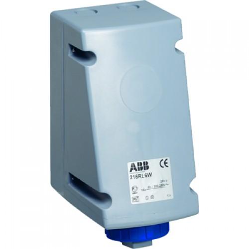 ABB RL Розетка для монтажа на поверхность с подключением шлейфа 216RL6W, 16A, 2P+E, IP67, 6ч