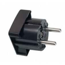 ABL Вилка с/з, термопласт, 16A, 2P+E, 250V, (черный)