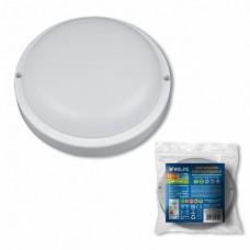 Volpe Белый Светильник светодиодный влагозащищенный, круг, дневной свет(6500K). 640Лм. Диаметр 14 см.