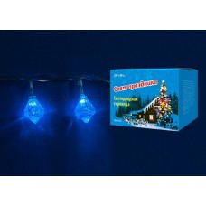 Uniel Гирлянда LED Брильянты с контроллером, 20 светодиодов, 2,8 м, синяя, IP20