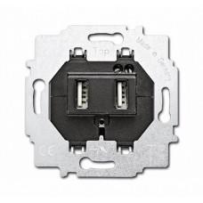 ABB BJE Зарядное устройство 6472 U-500, два USB раз, 1400 мА, электр. защита от перегр и КЗ