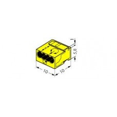 WAGO Микро Клемма 4-проводная желтая