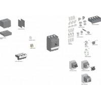 SE Compact NSX 4P Клемные заглушки для посл.соединения NSX400/630