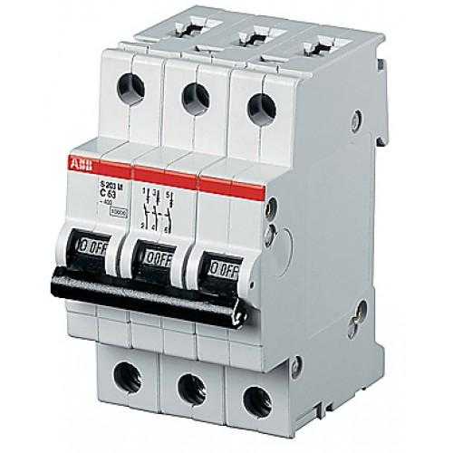 ABB S203P Автоматический выключатель 3P 13А (D) 25kA