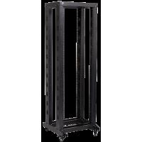 """IEK ITK 19"""" двухрамная стойка, 32U, 600x600, на роликах, черная"""