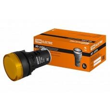 TDM Лампа AD22DS(LED)матрица d22мм желтый 230В TDM