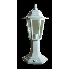 Italmac Светильник садово-парковый шестигранный на стойке 60вт, Е27, белый, IP44 прозрачное стекло, корпус - полипропилен,  габариты 400*180 мм