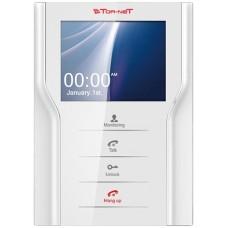 "Tor-neT Монитор видеодомофона, 4,3"" цв., hands free, до 4 мон., 2 дверн.блока, 1 камера, белый"