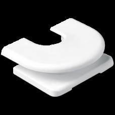 JUNG LS 990 Белый Ввод для кабелей, труб и каналов для кабельных и миниканалов
