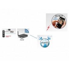 DVC IP В/П для моб. уст-в (Android, iOS), 1,0 Mр, 10/100M, WiFi 10db цвет накладки - черный