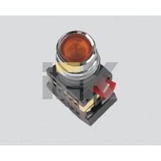 IEK Кнопка ABLF-22 прозрачный d22мм неон/240В 1з+1р