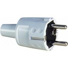 ABL Вилка с/з ПВХ, 16A, 2P+E, 250V, (белый)