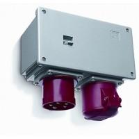 ABB Соединительное устройство для монтажа на поверхность с подключение шлейфа 416A6, вилка и розетка 3P+N+E, 16А, IP44, 6ч