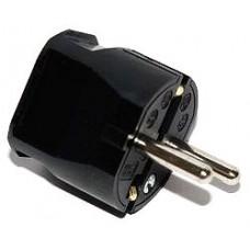 ABL Вилка термопласт 16A, 2P+E, 250V, подключение сзади (черный)