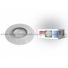 Uniel Fametto Luciole Светильник декоративный встраиваемый. Без лампы, цоколь GU5.3. Доп. LED подсветка, мощность 3Вт. Основание металл, цвет хром. От