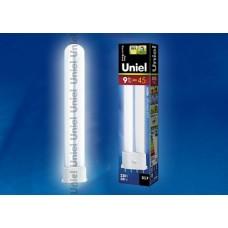 Uniel Лампа энергосберегающая линейная 9Вт, 2G7, ярко-белая
