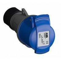ABB Easy&Safe Розетка кабельная 216EC6,16А,2P+E,IP44,6ч