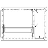 DKC Комплект для создания кабельного отсека, для шкафов CAE/CQE 2000 x 600